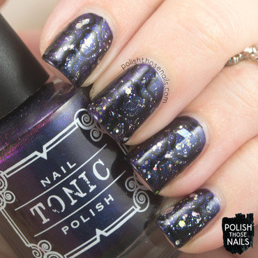 Dorothy's Subtle Darkness nail art by Marisa  Cavanaugh
