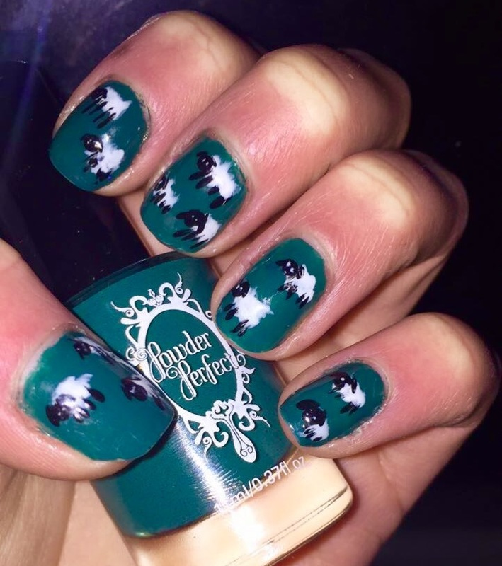 Sheep in a field  nail art by Monica