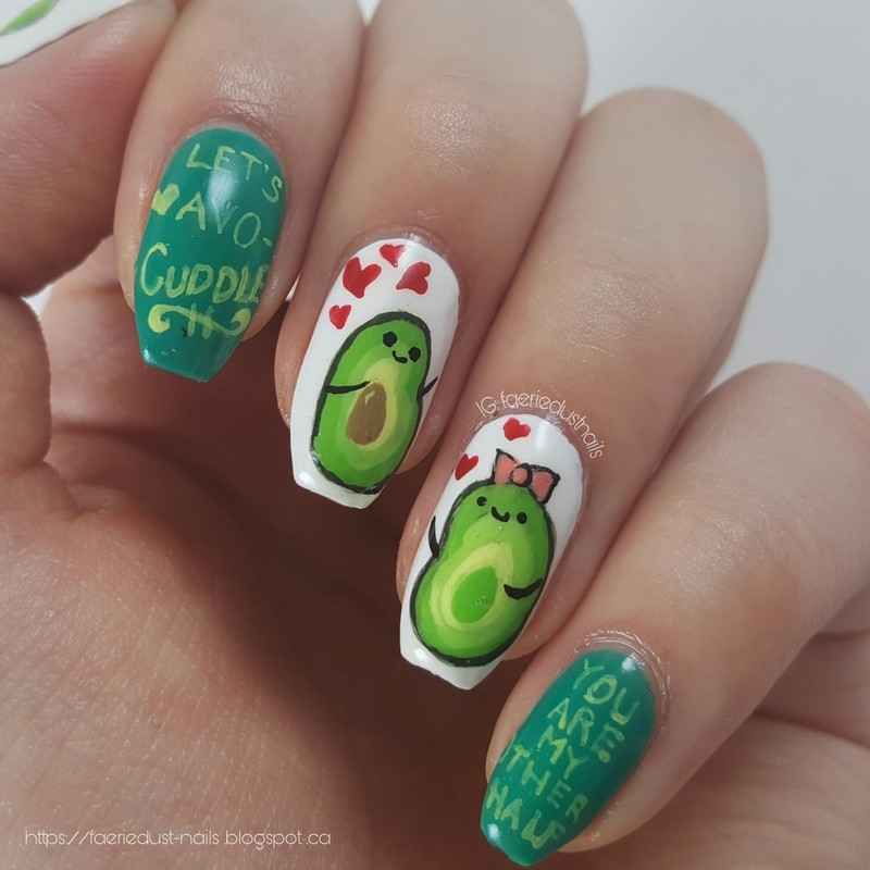 Avocado nail art by Shirley X.