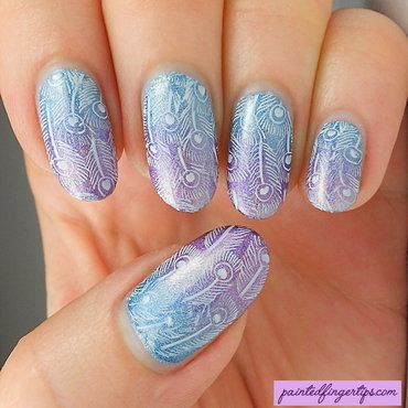 Peacock feather stamping thumb370f
