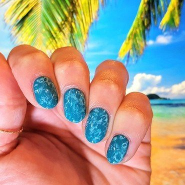 Vitamin Sea nail art by Alisha Worth