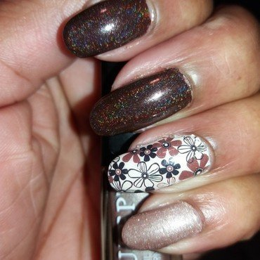 Brown Beauty nail art by Jackie Bodick