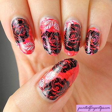 Red marble black rose thumb370f