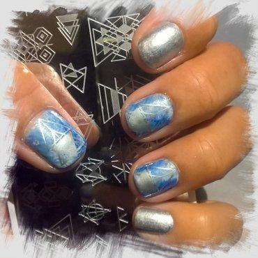 Geometric Stamping over #fanbrushfriday  nail art by Avesur Europa