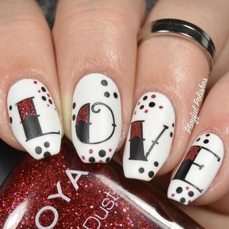 V-day Love Tattoo Nail Art nail art by Playful Polishes