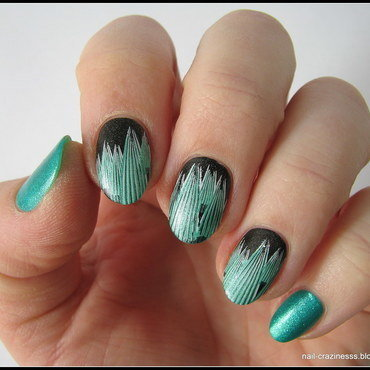 Winter forest nail art by Nail Crazinesss