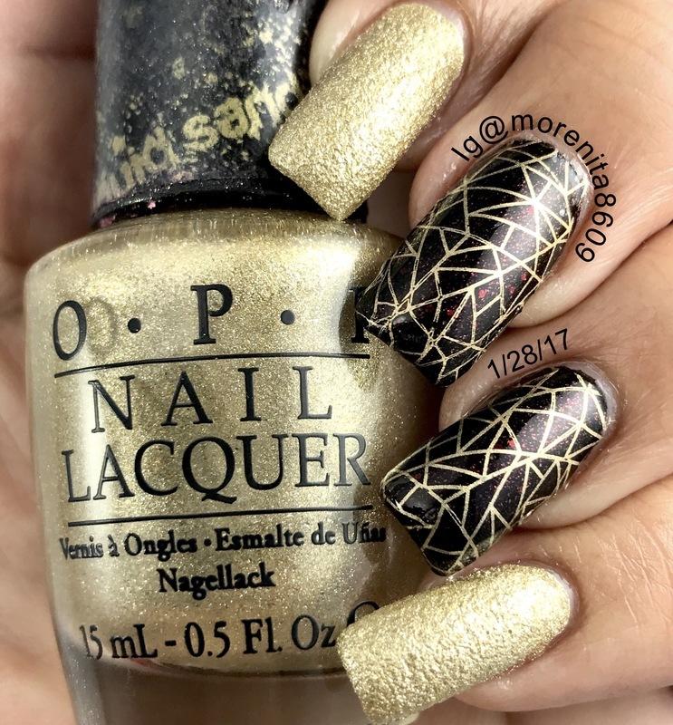 Very elegant and classy manicure nail art by Morenita  Morena