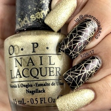 Very elegant and classy manicure nail art by Morenita  Morena