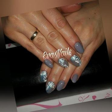 Ornaments nail art by Ewa EvaNails
