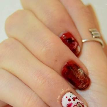 Rocker's valentines nail art by i-am-nail-art