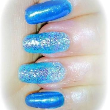Blue chrome nail art by Maureen Spaulding
