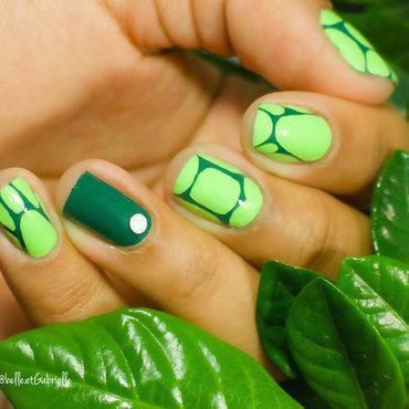 Turtle Nail Art nail art by Gabrielle