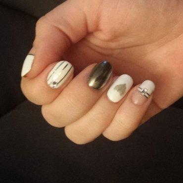 valentine's day nail art by mariejane