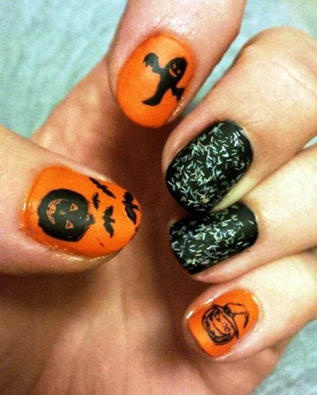 Halloween nail art by Meggy