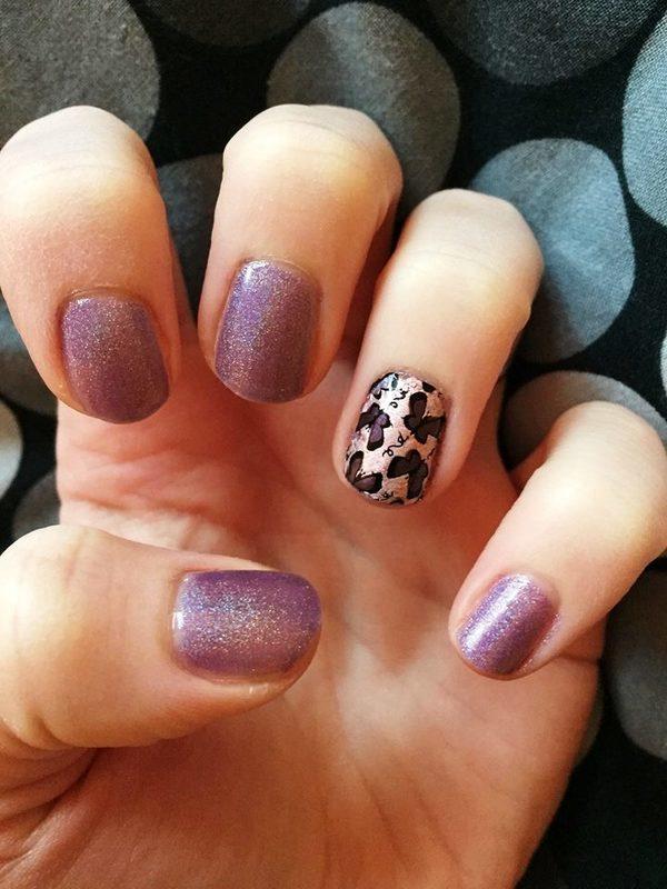 Butterflies nail art by Meggy