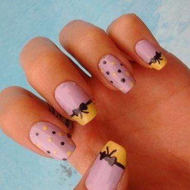 Cute pastel nail art nail art by Mora Marie