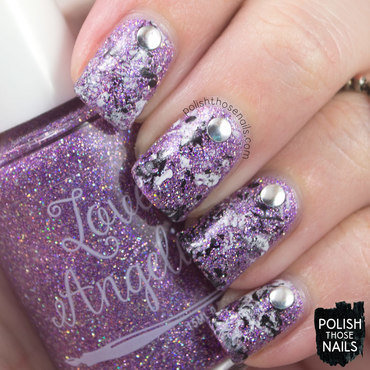 Distressed Bling nail art by Marisa  Cavanaugh