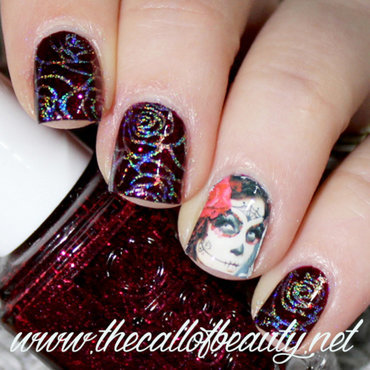 Anti-Vday Manicure nail art by The Call of Beauty