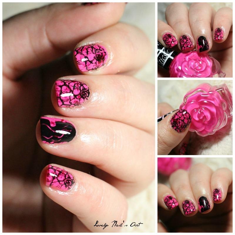 Nail art stamping romantique  nail art by Lovely Nail's  Art