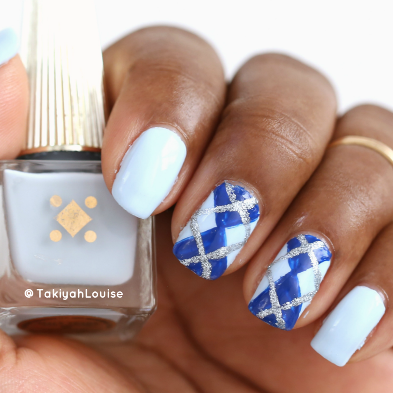 Argyle Nails nail art by TakiyahLouise