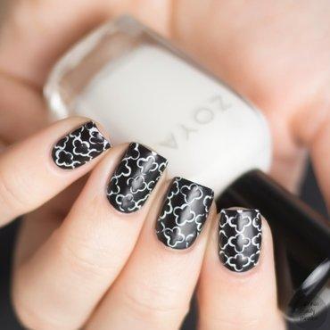 Black and white nails dotting design 5 thumb370f