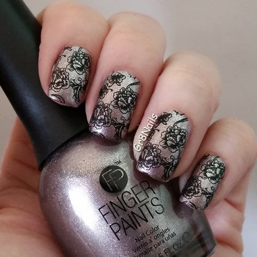 UberChic nail stamping nail art by Gr8Nails