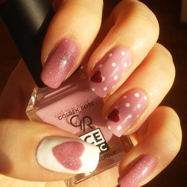 Valentine's Day nail art by irenek