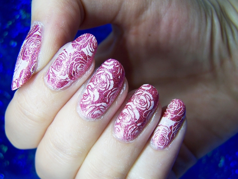 Roses nail art by Lucy