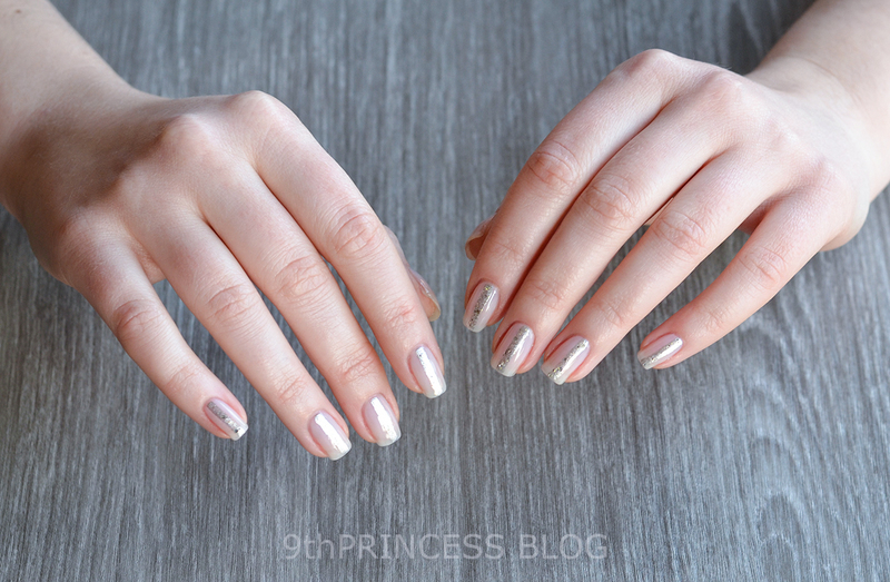Silver Stripes nail art by 9th Princess