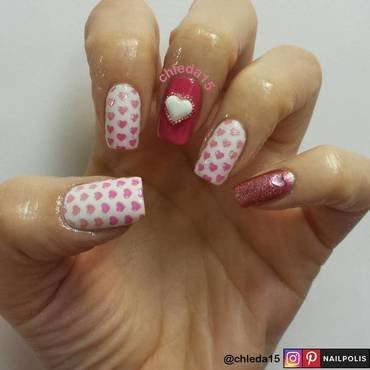 Hearty Hearts nail art by chleda15