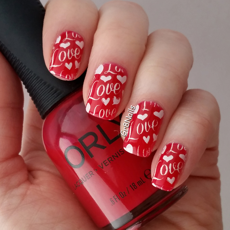 Love nail art by Gr8Nails