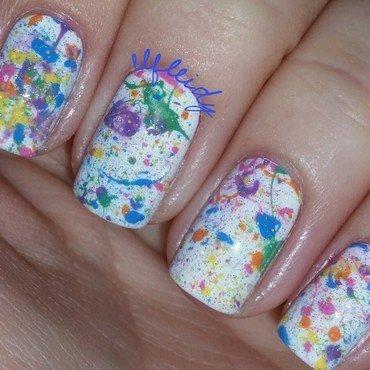 Splatter nail art by Jenette Maitland-Tomblin