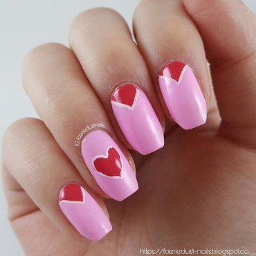 Simple Valentine's Day Nails nail art by Shirley X.
