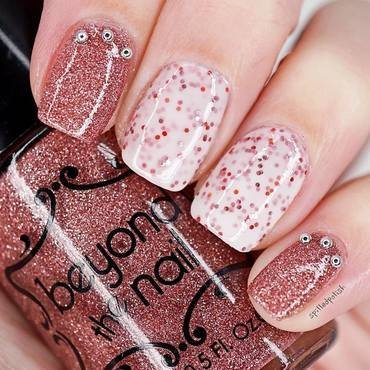 Valentine's Day Glitter nail art by Maddy S