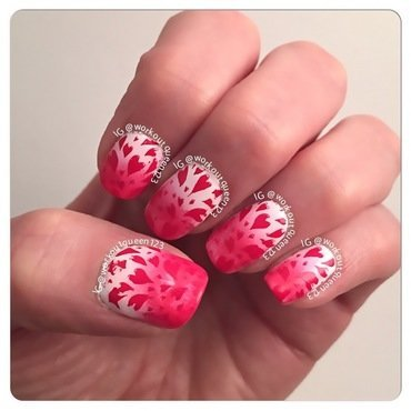 Hearts nail art by Workoutqueen123