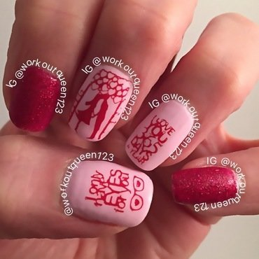only have eyes for you nail art by Workoutqueen123