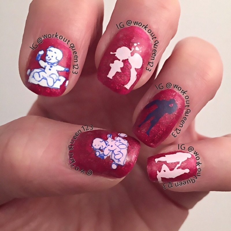 love at first site nail art by Workoutqueen123