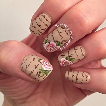 love letters nail art by Workoutqueen123
