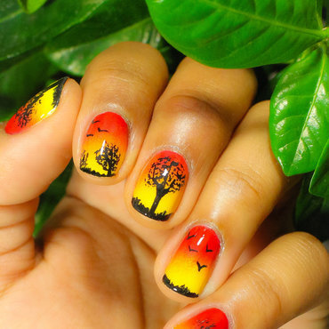 Africa Inspired Nail Art nail art by Gabrielle