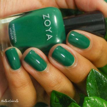 "Swatch of Zoya's ""Wyatt"" nail art by Gabrielle"