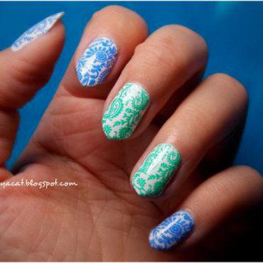 Paisley pajamas nail art by notcopyacat
