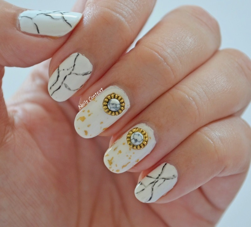 Marble Nails nail art by NailsContext - Nailpolis: Museum of Nail Art