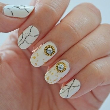 Marble Nails  nail art by NailsContext