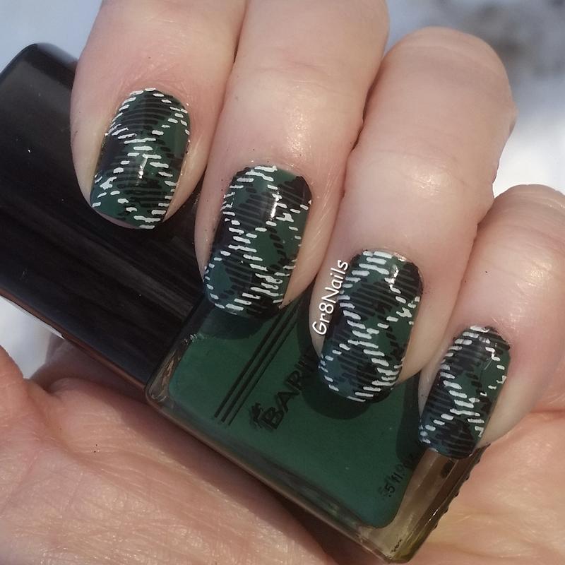Plaid nail art by Gr8Nails