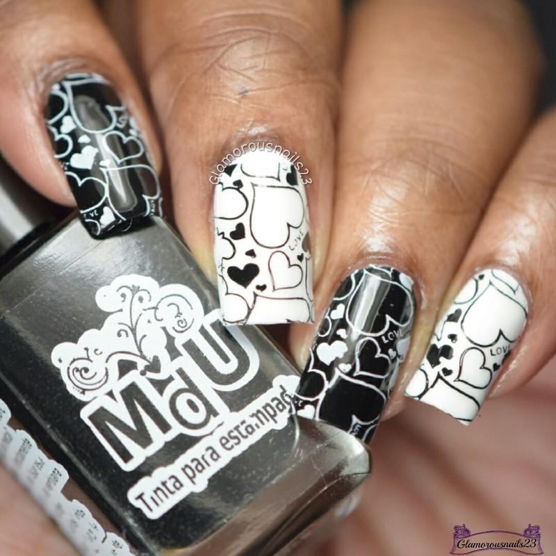 CE8 Feb.17 Day 14 - Valentines/Anti-Valentines nail art by glamorousnails23
