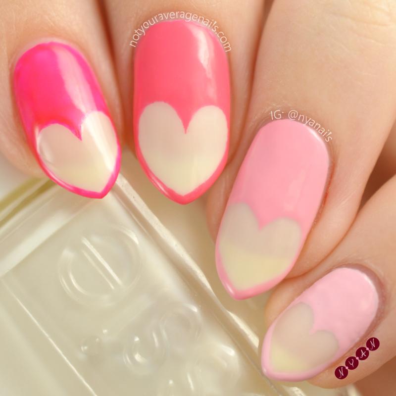 Heartfelt nail art by Becca (nyanails)