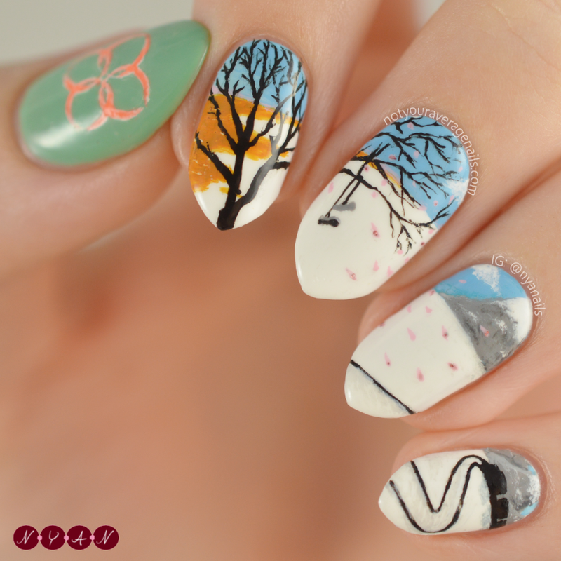 Spring Day Nail Art By Becca Nyanails Nailpolis
