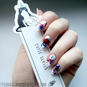 French Splatter! nail art by StyleNailsAndYou