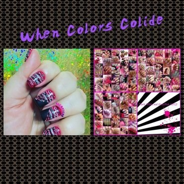 Abstract Canvas nail art by Aurea Castro
