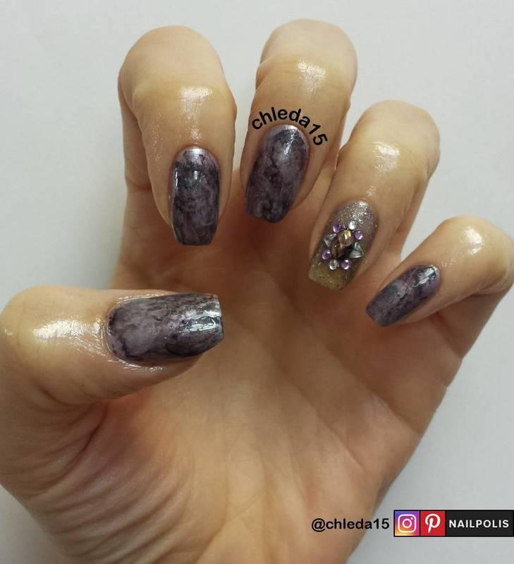Smoky Quartz nail art by chleda15